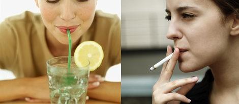 Evitar beber con pajita y sobre todo fumar