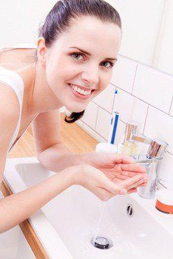 Primer paso: lavar el rostro