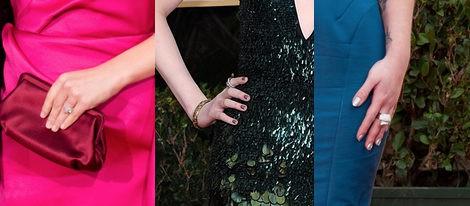 Las uñas Natalie Portman, Evan Rachel Wood y Kelly Osbourne en los Globos de Oro 2012
