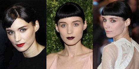 Diferentes looks de maquillaje de Rooney Mara