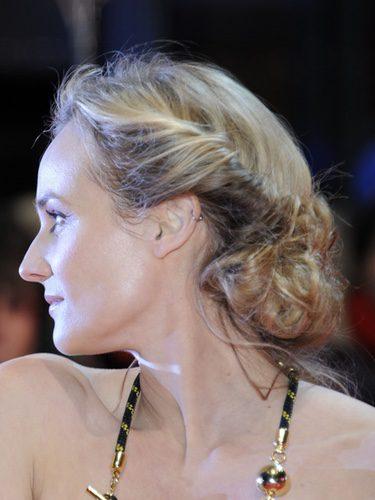 Diane Kruger con un recogido despeinado