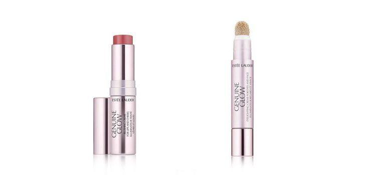 De izq a dch:'Genuine Glow Color en Crema para labios y Mejillas' y 'Genuine Glow Iluminador en Crema para Ojos y Rostro'