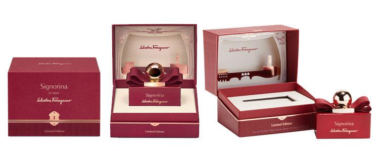 El exclusivo packaging de 'Signorina In Rosso' de Salvatore Ferragamo