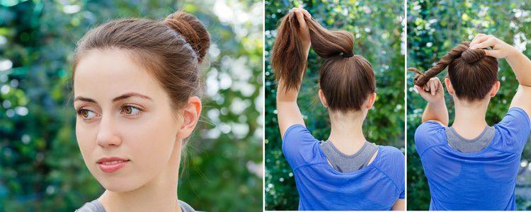 Hacerse un moño no es difícil, sobre todo si tienes como guía una coleta sobre la que enrollas el pelo