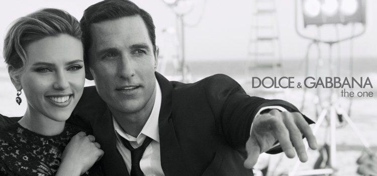 Scarlett Johansson y Matthew McConaughey en su campaña con Dolce & Gabbana 'The One'