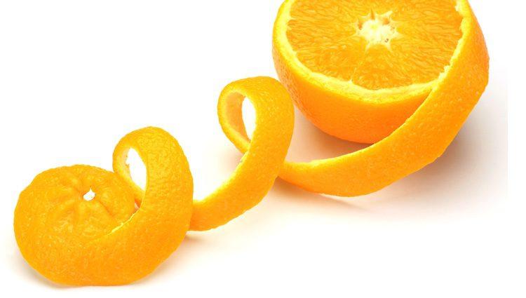 La piel de naranja sirve como antioxidante