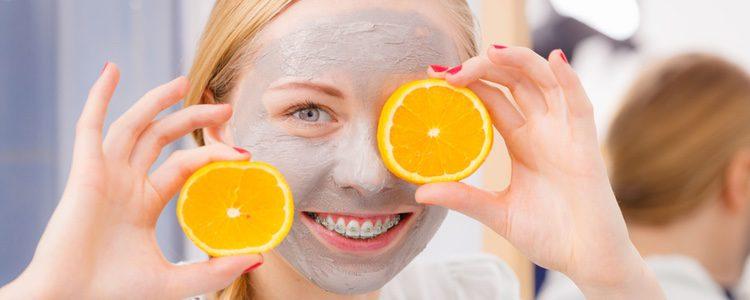 La naranja hace que también funcione como protector solar