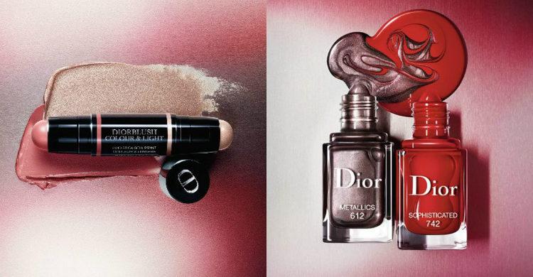 El colorete e iluminador y los esmaltes de la colección de 'Metallics' de Dior