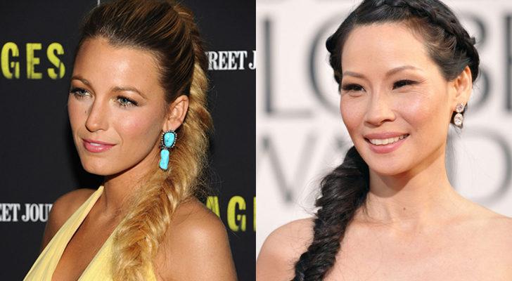 Las actrices Blake Lively (izquierda) y Lucy Liu (derecha)