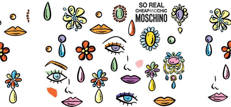 Motivos de lo nuevo de Moschino 'So Real Cheap </p><p>& Chic'