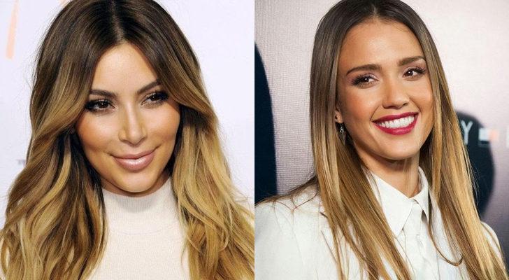 Kim Kardashian (izquierda) y Jessica Alba (derecha)