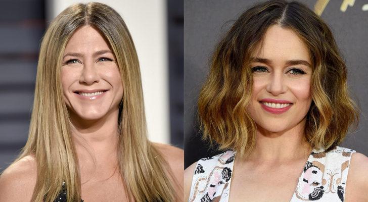 Jennifer Aniston (izquierda) y Emilia Clarke (derecha)